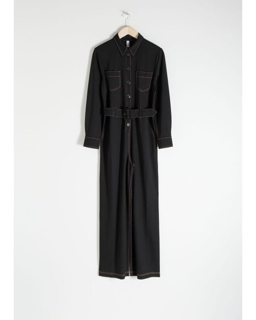& Other Stories - Black Workwear Boiler Suit - Lyst