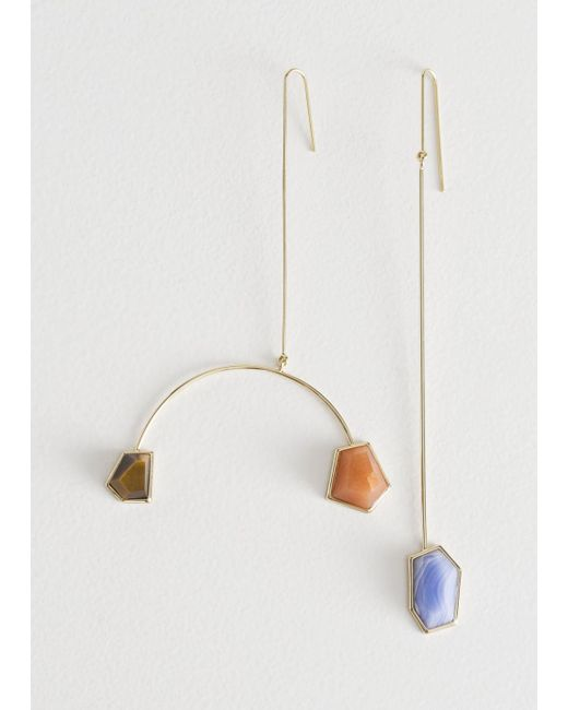 & Other Stories - Blue Asymmetrical Mobile Stone Earrings - Lyst
