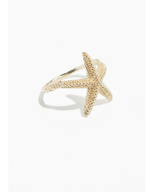 & Other Stories - Metallic Star Fish Ring - Lyst