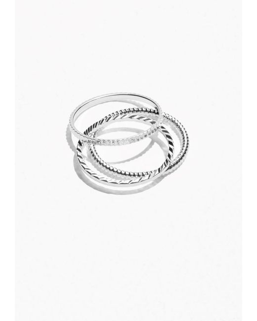 & Other Stories | Metallic Stack & Layer Ring Set | Lyst