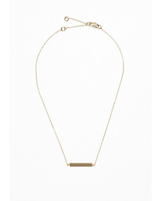 & Other Stories   Metallic Plate Necklace   Lyst