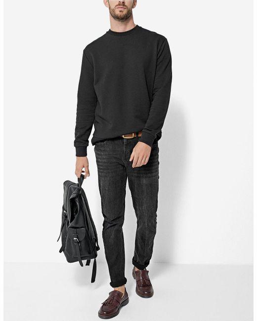 Stradivarius | Black Sweatshirt With Round Neck for Men | Lyst