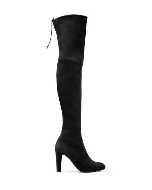Stuart Weitzman | Black Highland Stretch-Suede Over-The-Knee Boots | Lyst