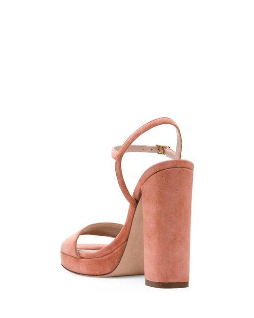 b425ebddea0 ... Stuart Weitzman - Pink The Sunray Sandal - Lyst ...