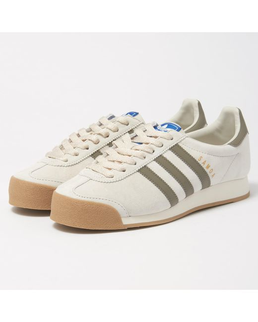 adidas originals men's samoa leather retro sneaker
