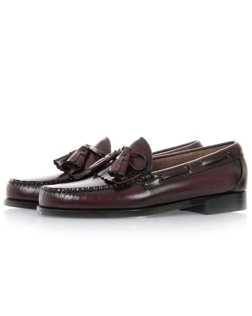 G.H. Bass & Co. - Multicolor Layton Moc Kiltie Burgundy Leather Loafer Shoes - Lyst