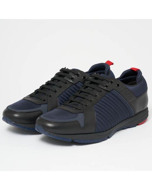 HUGO - Hugo Boss Hybrid Runn Dark Blue Shoes for Men - Lyst