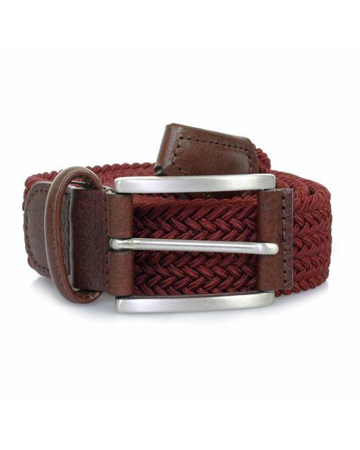Andersons | Purple Anderson Belts Woven Burgundy Belt B0667 Af2949 for Men | Lyst