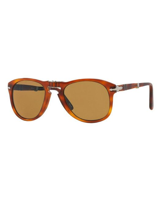 2dd308796b Lyst - Persol 714 Foldable Brown Sunglasses 0po0714 52  in Brown for Men