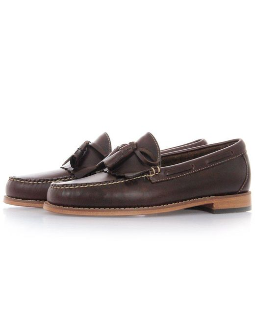 G.H.BASS - Brown Layton Pull Up Kiltie Loafers for Men - Lyst