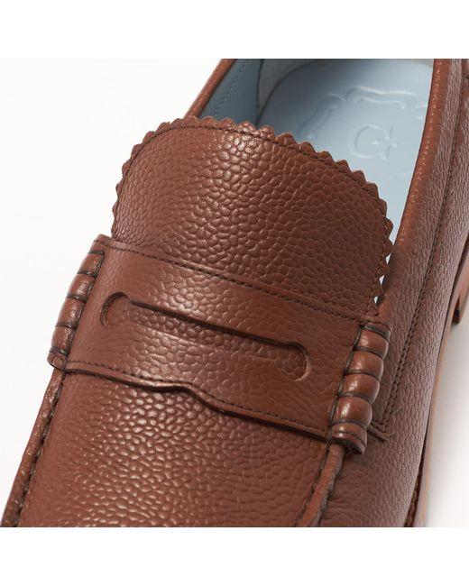 af3bc9f3e56 ... GRENSON - Ashley Dark Brown Loafer Shoe for Men - Lyst ...