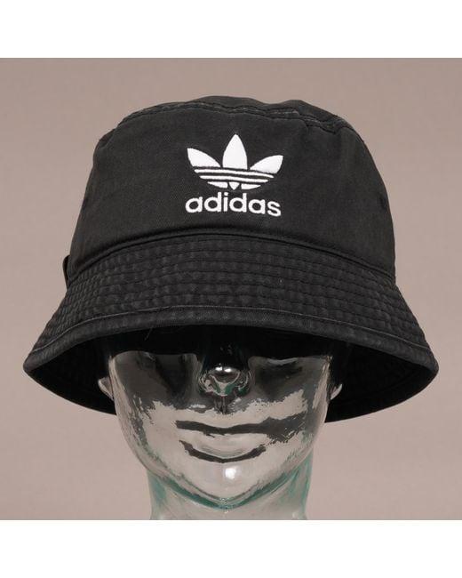 b60f5d3f8e1 ... Adidas Originals - Trefoil Bucket Hat - Black for Men - Lyst ...
