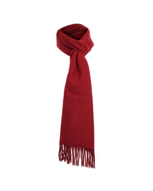 Dents | Red Burgundy Lambswool Scarf | Lyst