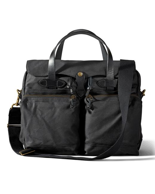 Filson - Black 24-hour Tin Cloth Briefcase for Men - Lyst