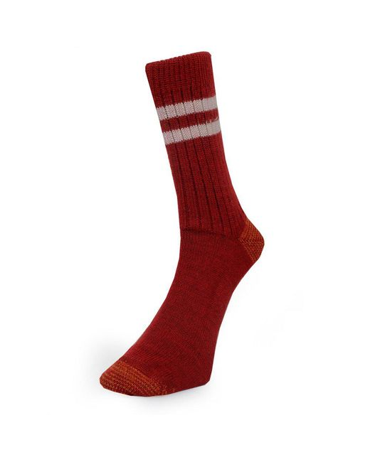 Merz B. Schwanen - Merz B. Schwanen S75 Dark Red Wool Socks for Men - Lyst