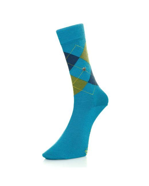 Burlington - Blue Burlington Edinburgh Wool Marine Argyle Socks 21182 for Men - Lyst