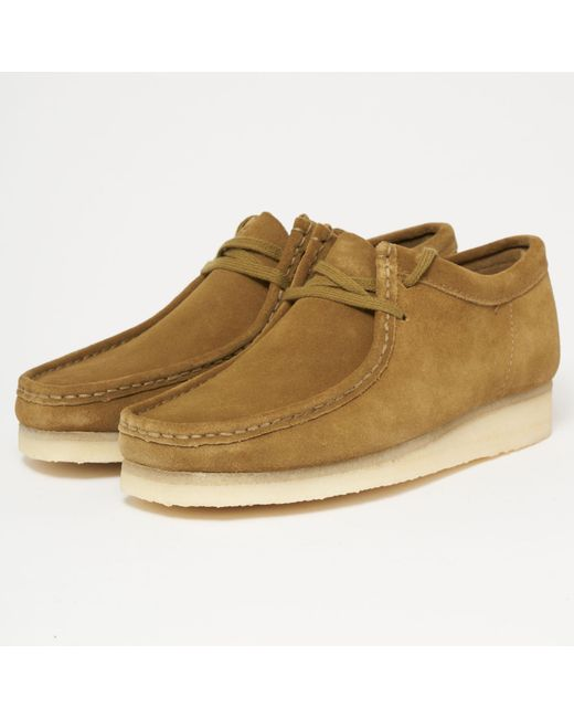 Clarks - Green Olive Suede Wallabee for Men - Lyst