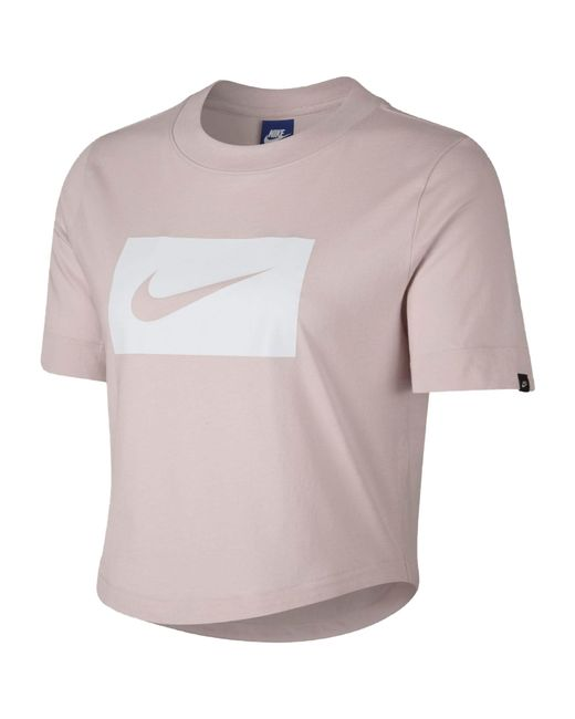 Nike - Pink Crop Swish - Lyst
