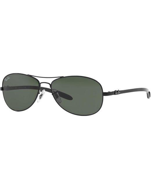 dd457f8c05 Ray-Ban Black Tech Rb8301 - Green Classic G-15 Lenses in Black for ...
