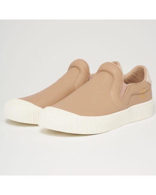 Adidas Originals - White Everyn Slip-on Trainer - Ash Pearl for Men - Lyst