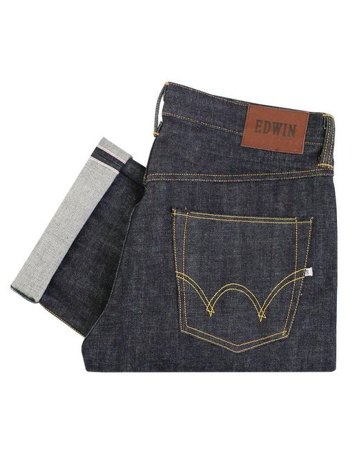Edwin - Blue Ed-47 Red Listed Selvage Denim - Unwashed for Men - Lyst