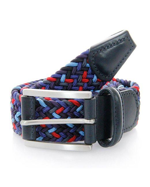 Andersons   Blue Anderson Woven Dark Multi Belt B0667 Ne41 for Men   Lyst