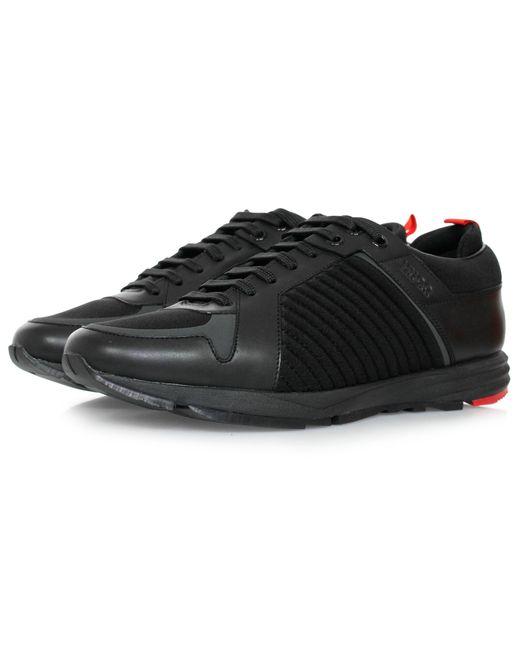 HUGO - Hugo Boss Hybrid Runn Black Shoes for Men - Lyst