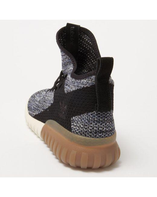 d9d7ca403ebd ... Lyst Adidas Originals - Tubular X Primeknit - Crystal Black   Tactile  Blue for Men ...