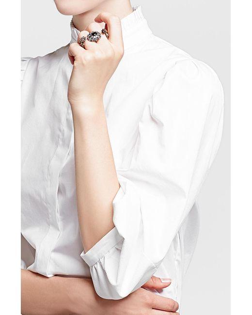 Alexander McQueen | Metallic Embellished Double Skull Ring | Lyst