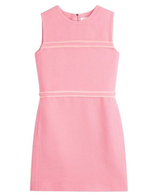 Lyst Victoria Victoria Beckham Wool Crepe Dress In Pink