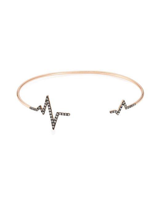 Diane Kordas - Pink Heartbeat 18kt Rose Gold Bracelet With White Diamonds - Lyst