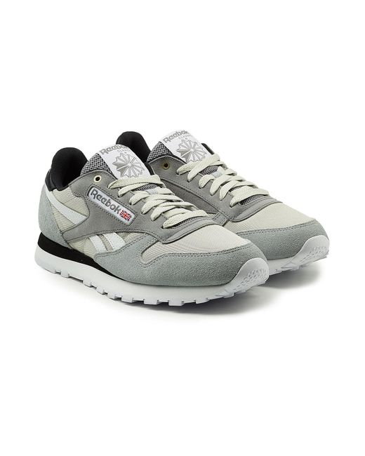 Reebok - Gray Classic Sneakers With Leather, Mesh And Suede - Lyst