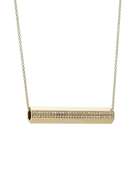 Ileana Makri - Metallic 18-karat Gold Pipe Necklace With Diamonds - Lyst
