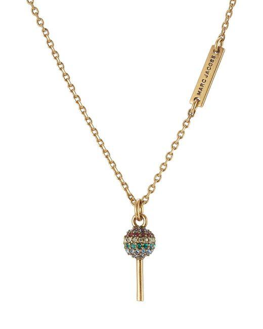 Marc Jacobs | Multicolor Lollipop Crystal Embellished Necklace | Lyst