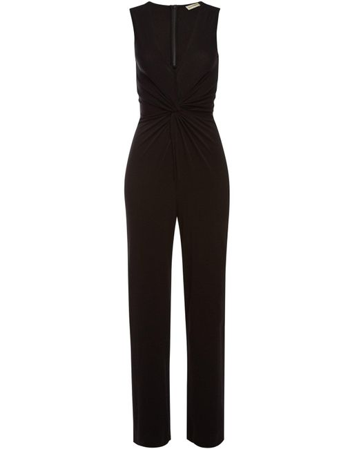 By Malene Birger - Black Exina Draped Jumpsuit - Lyst