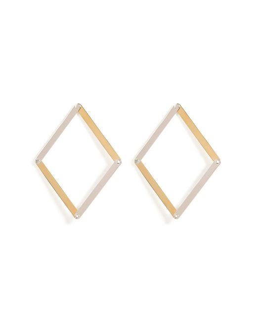 Delfina Delettrez | Metallic Silver Dettaille Unique Earrings | Lyst