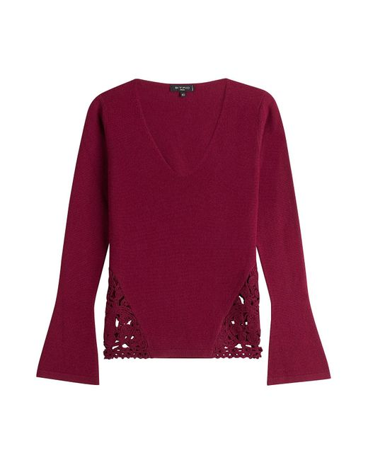 Etro - Red Wool-cashmere Blend Pullover - Lyst