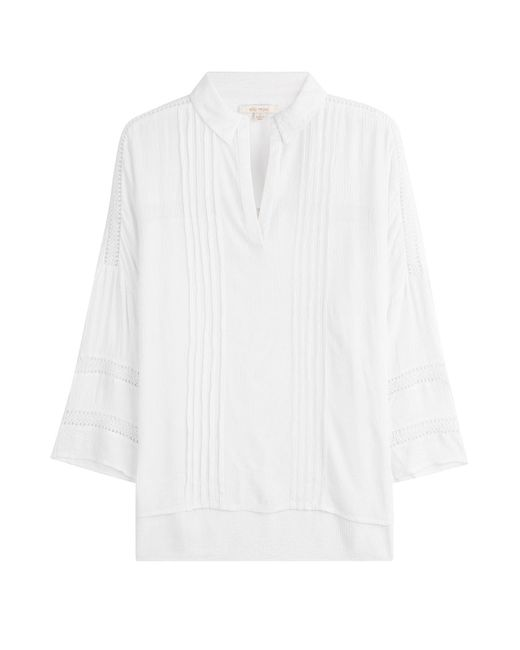 Ella Moss   White Gauze Tunic With Lace Crochet   Lyst