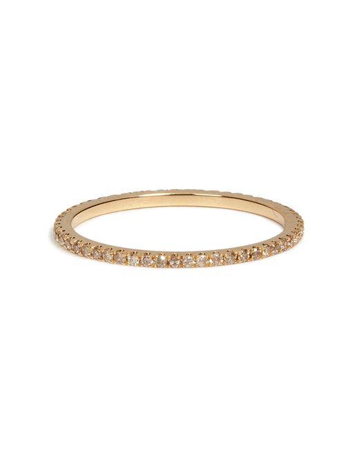 Carolina Bucci | Metallic 18k Gold Pave Stacking Ring With Champagne Diamonds | Lyst