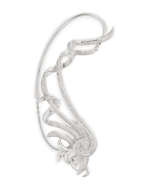 Nikos Koulis   18kt White Gold Fontana Earring With White Diamonds   Lyst