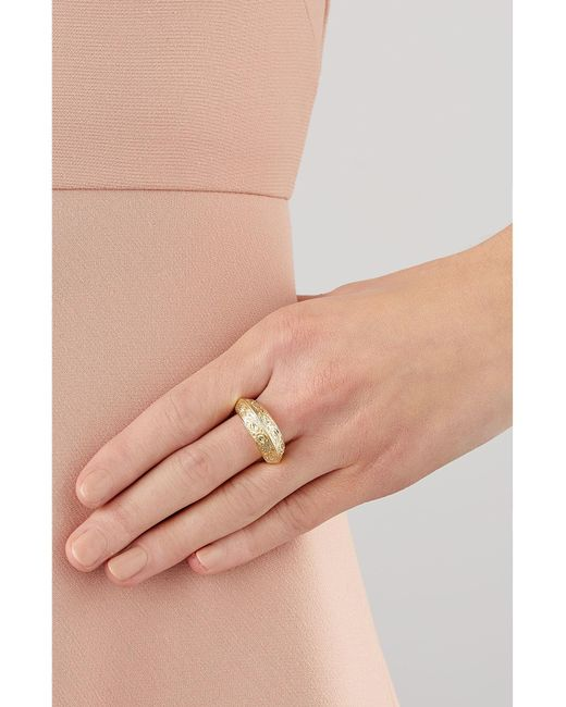 Aurelie Bidermann | Metallic Apache Embossed Ring | Lyst
