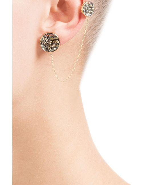 Ileana Makri | Metallic 18-karat Gold And Sapphire Ear Cuff | Lyst