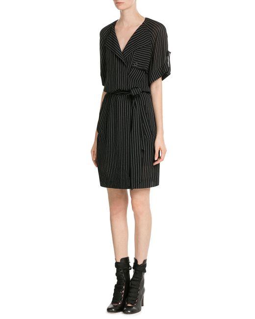 Alexander Wang | Black Pinstriped Dress | Lyst