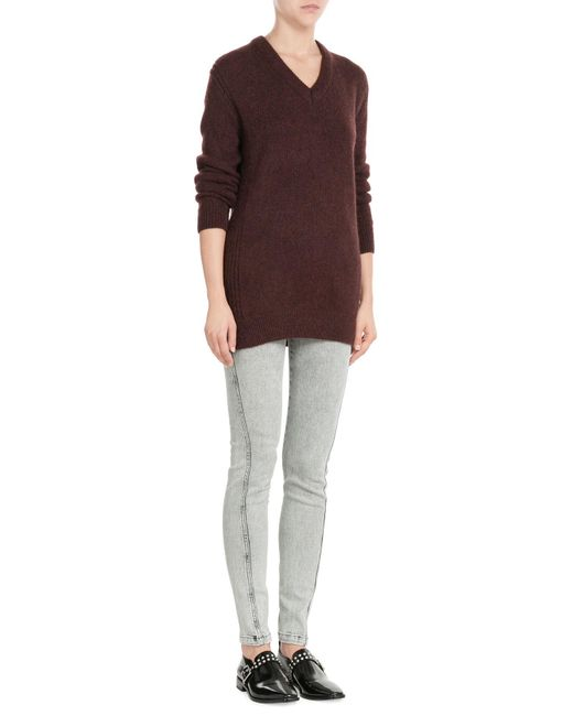 KENZO | Brown Pullover With Alpaca And Wool | Lyst