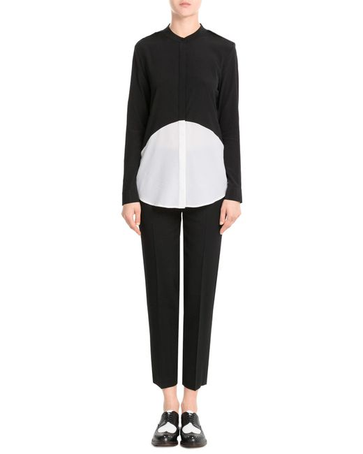 Donna Karan | Black Cropped Wool Trousers | Lyst