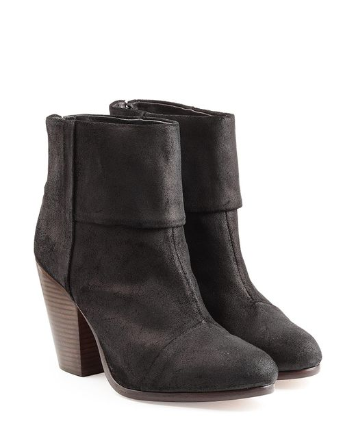 Rag Amp Bone Classic Newbury Suede Ankle Boots In Natural Lyst