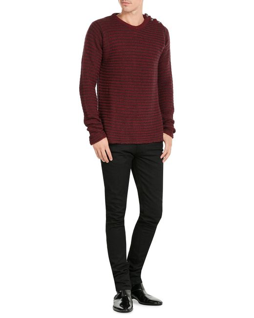 Zadig & voltaire Pullover With Statement Buttons in Red ...