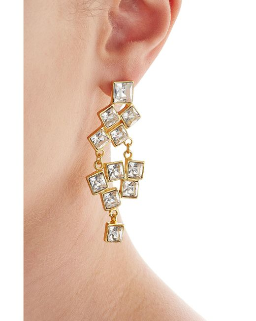 Kenneth Jay Lane | Metallic Embellished Earrings | Lyst