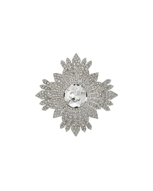 Kenneth Jay Lane | Metallic Embellished Brooch | Lyst