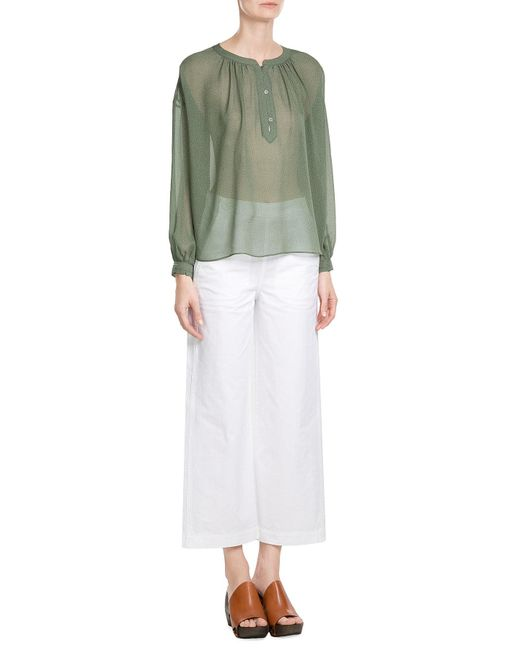 MiH Jeans | Green Cotton Wide Leg Culottes | Lyst